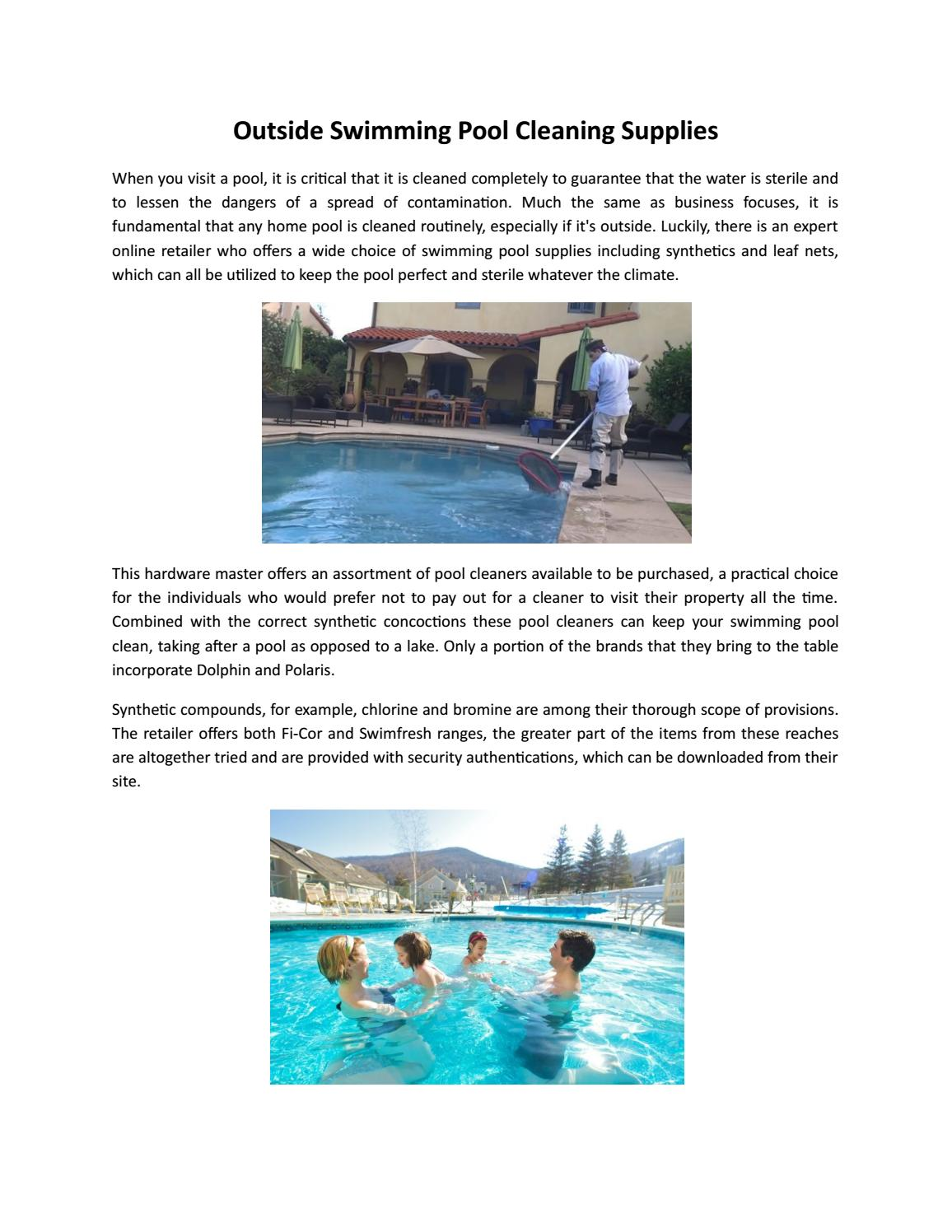 Outside swimming pool cleaning supplies by Total Pool Safety ...