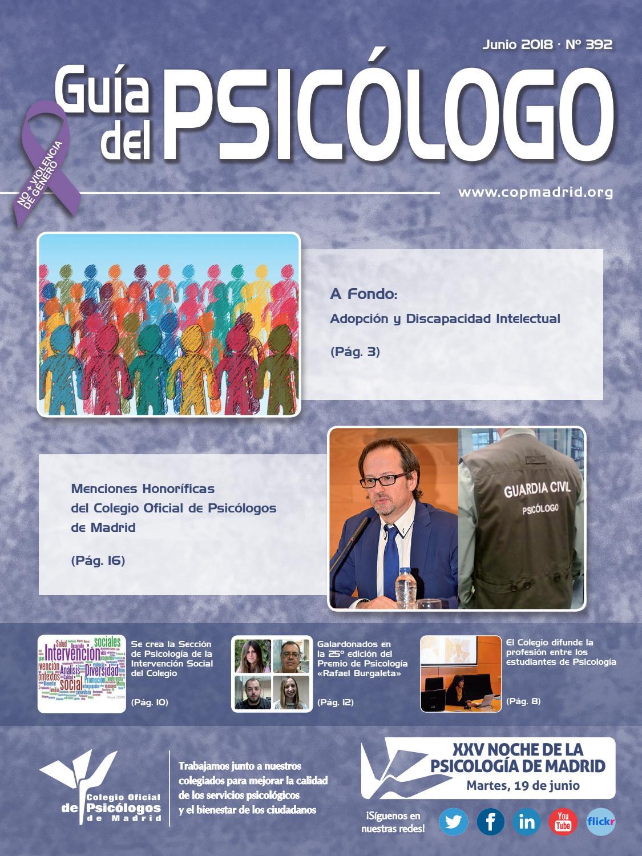 Guía del Psicólogo mes de Junio 2018 by Colegio Oficial de ...