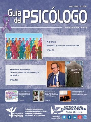 Guia Del Psicologo Mes De Junio 2018 By Colegio Oficial De