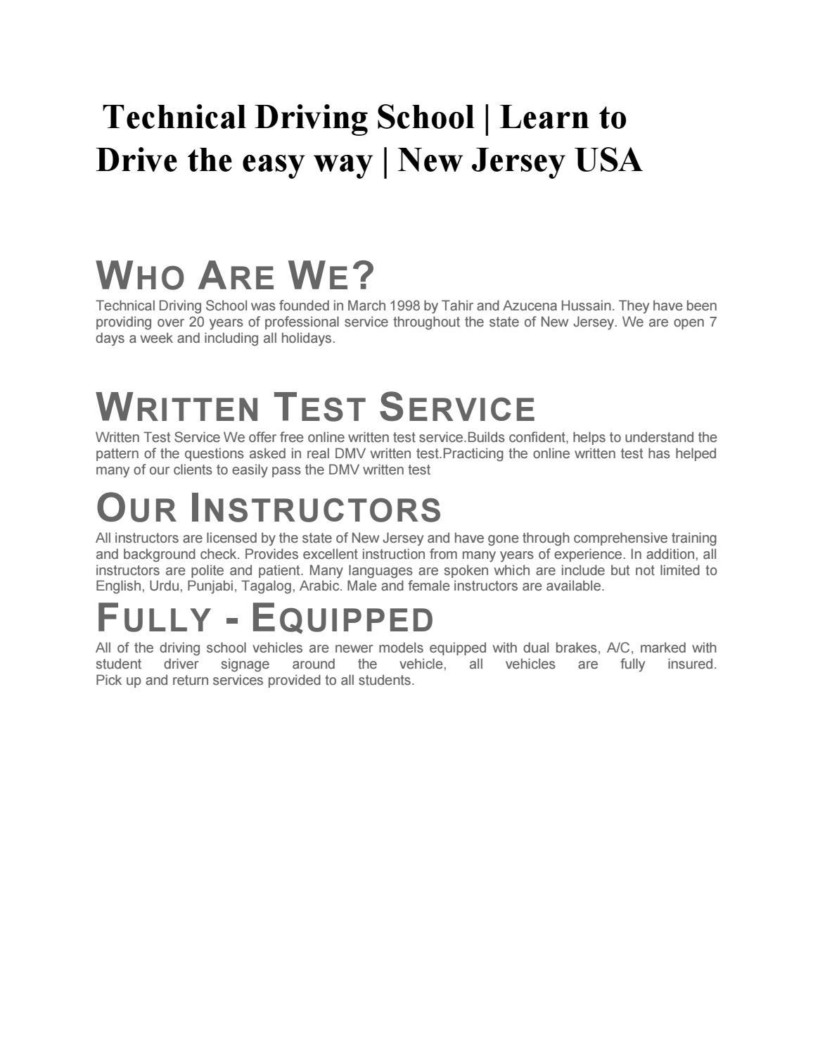 Best Driving school Brunswick NJ | Teens driving NJ |Tech driving
