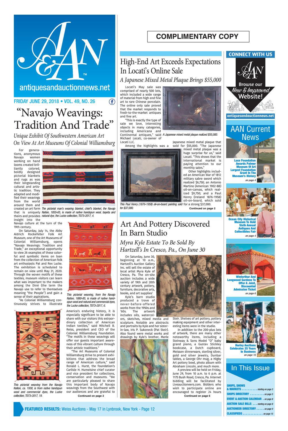 Antiques Auction News 062918 By Antiques Auction News Issuu