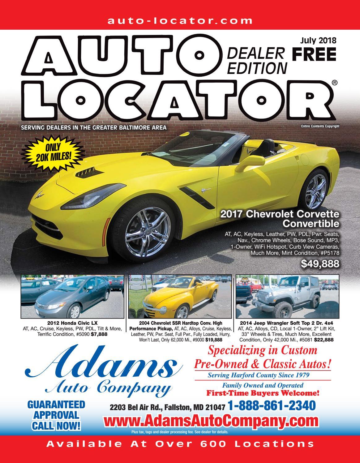 06-25-18 Auto Locator Dealer Edition by Auto Locator Dealer - issuu