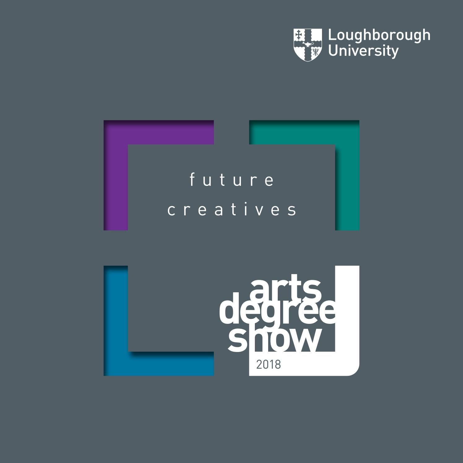 School Of The Arts Degree Catalogue 2018 By Loughborough