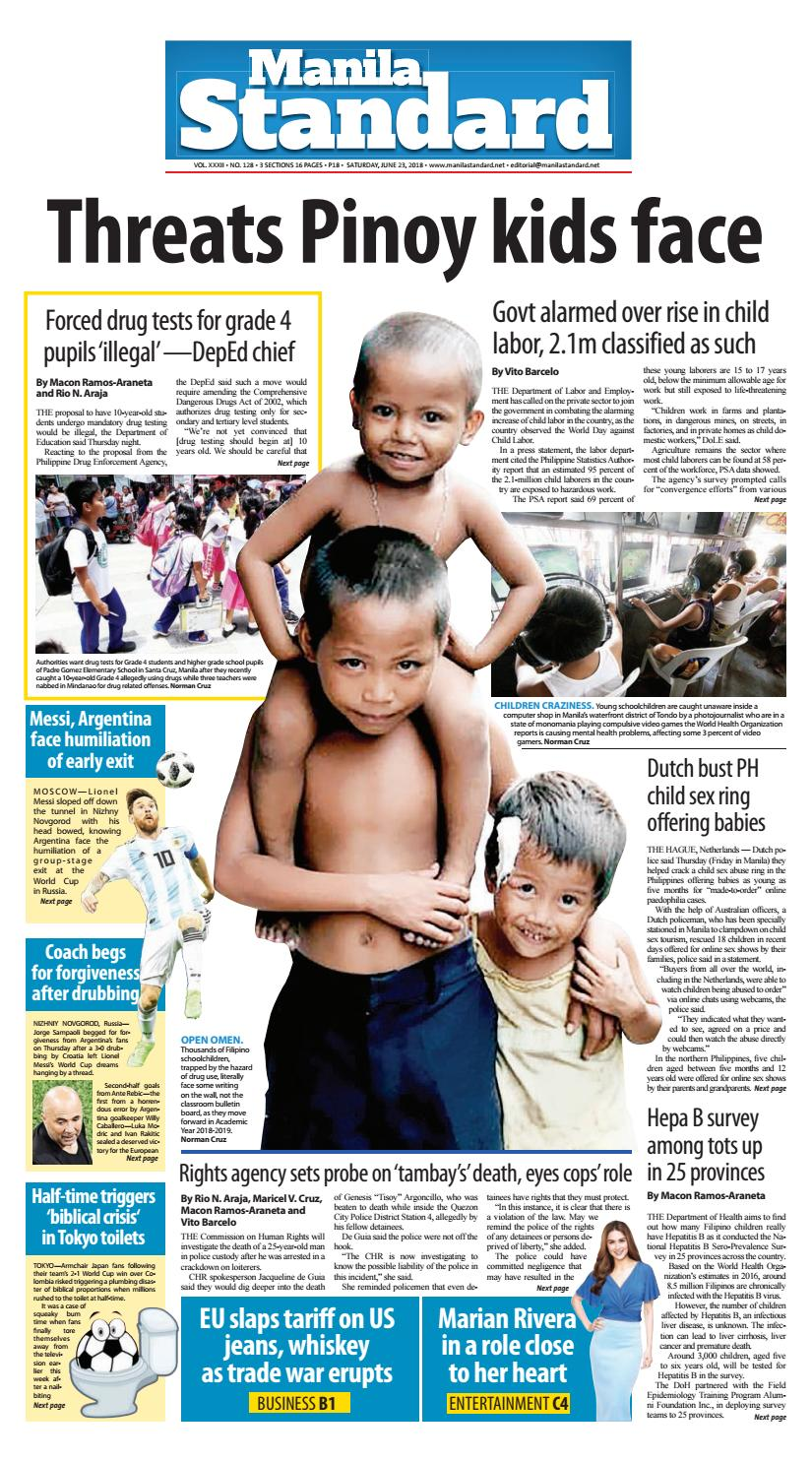 Manila Standard - 2018 June 23 - Saturday by Manila Standard - issuu