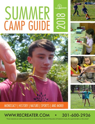 Summer Camp Guide 2018 By Frederick County Parks And Recreation Issuu