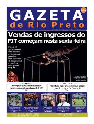 Gazeta de Rio Preto - 22 06 2018 by Social Light - issuu a0e9b5755f1