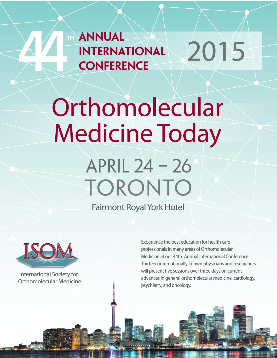 44th Orthomolecular Medicine Today Conference by Journal of
