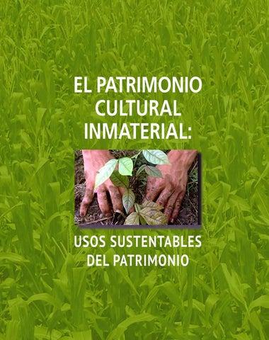 8fc19f71d537 El PATRIMONIO CULTURAL INMATERIAL  USOS SUSTENTABLES DEL PATRIMONIO ...