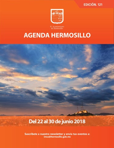 "Cover of ""Agenda Hermosillo 22 junio 2018"""
