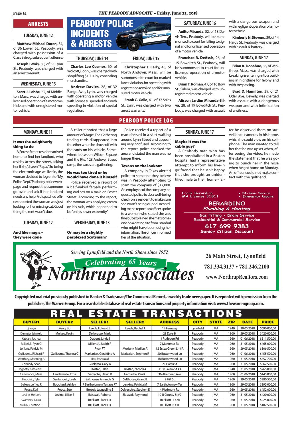 THE PEABODY ADVOCATE – Friday, June 22, 2018