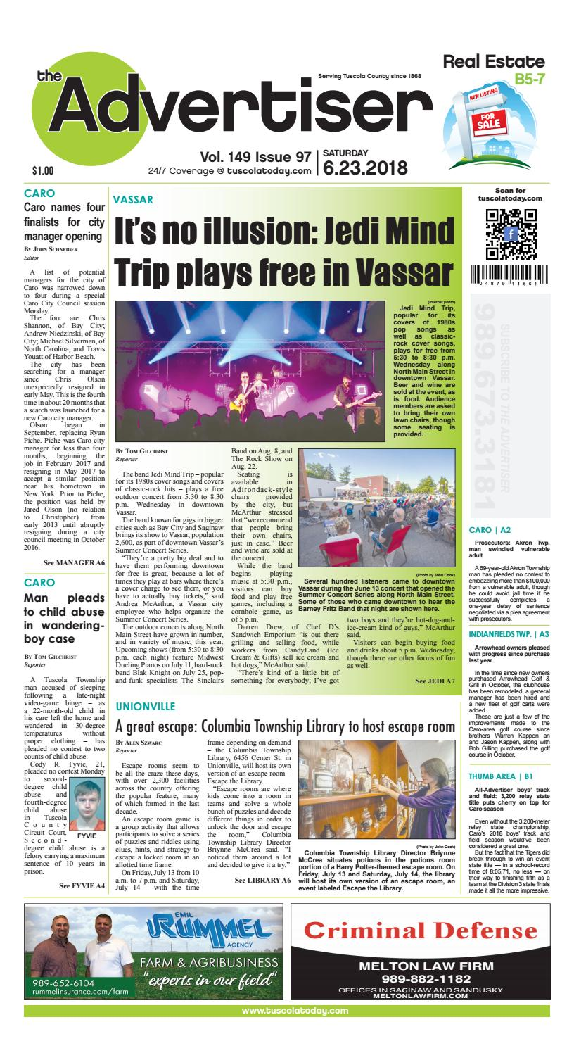 Tca 6 23 18 all pages by Tuscola County Advertiser - issuu