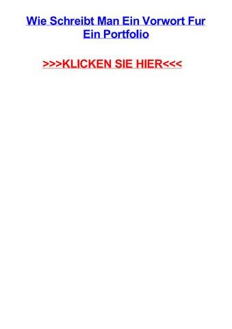 Wie Schreibt Man Ein Vorwort Fur Ein Portfolio By Williamkjdv Issuu