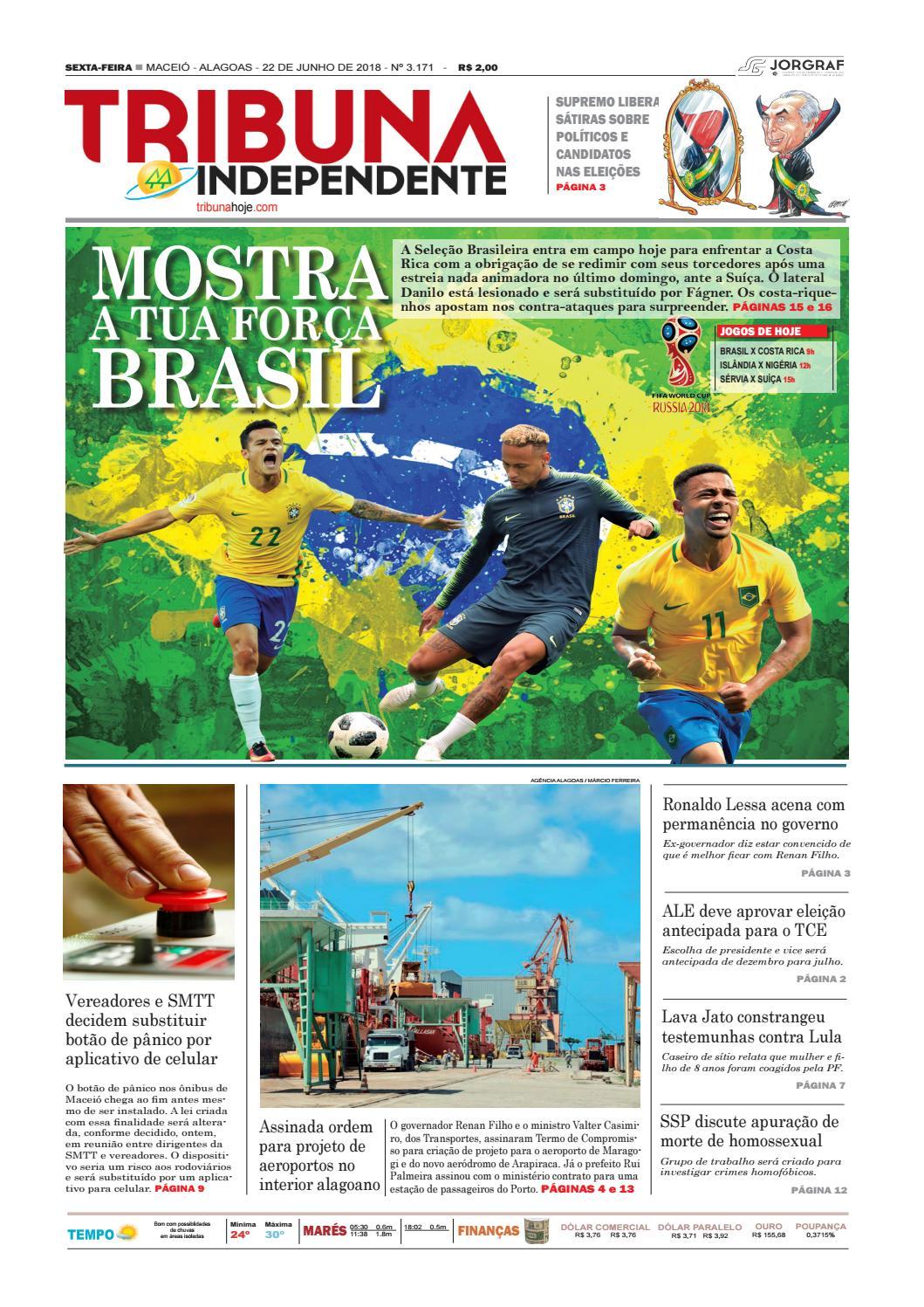 92283ae61 Edição número 3171 - 22 de junho de 2018 by Tribuna Hoje - issuu