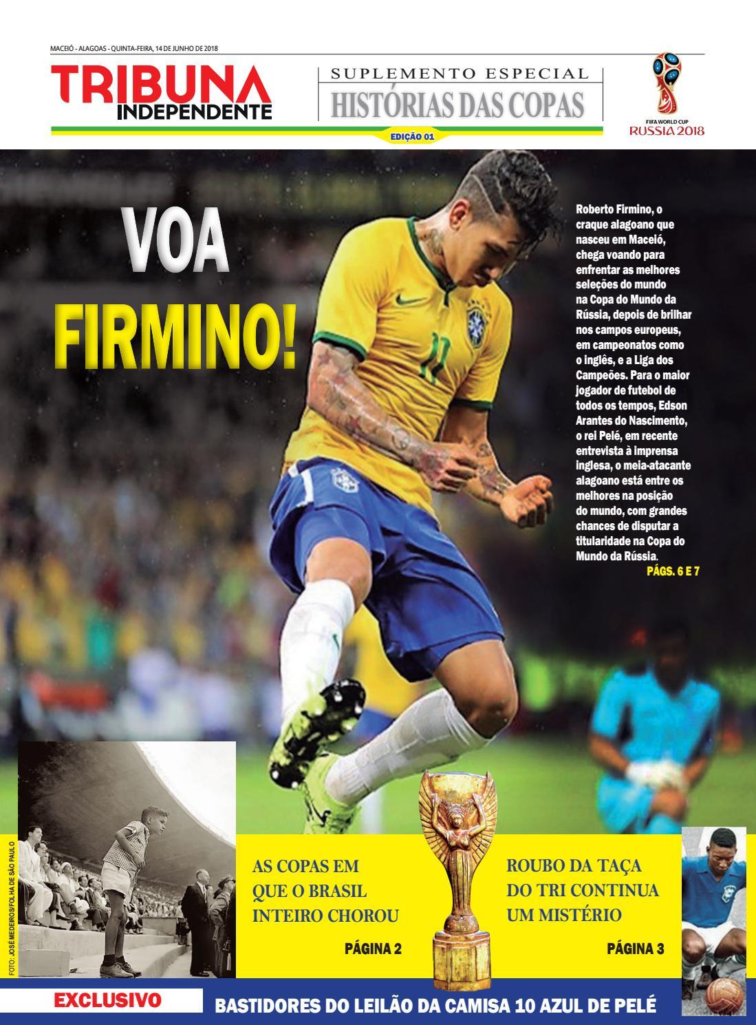 Edição número 1 - Suplemento Histórias das Copas by Tribuna Hoje - issuu cd62ca16902cb