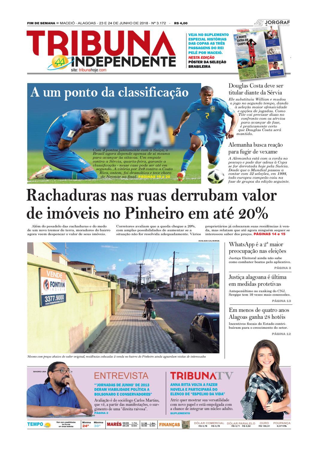 eda9b6cc8 Edição número 3172 - 23 e 24 de junho de 2018 by Tribuna Hoje - issuu