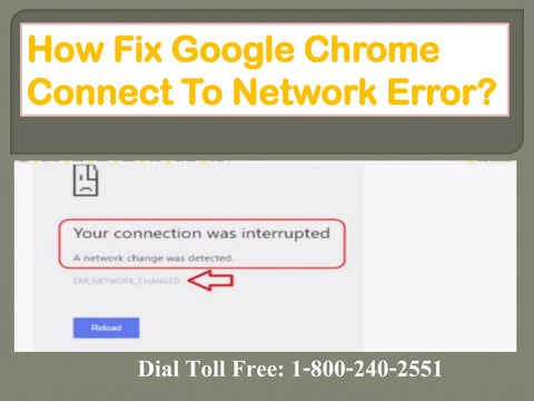 your connection is interrupted chrome