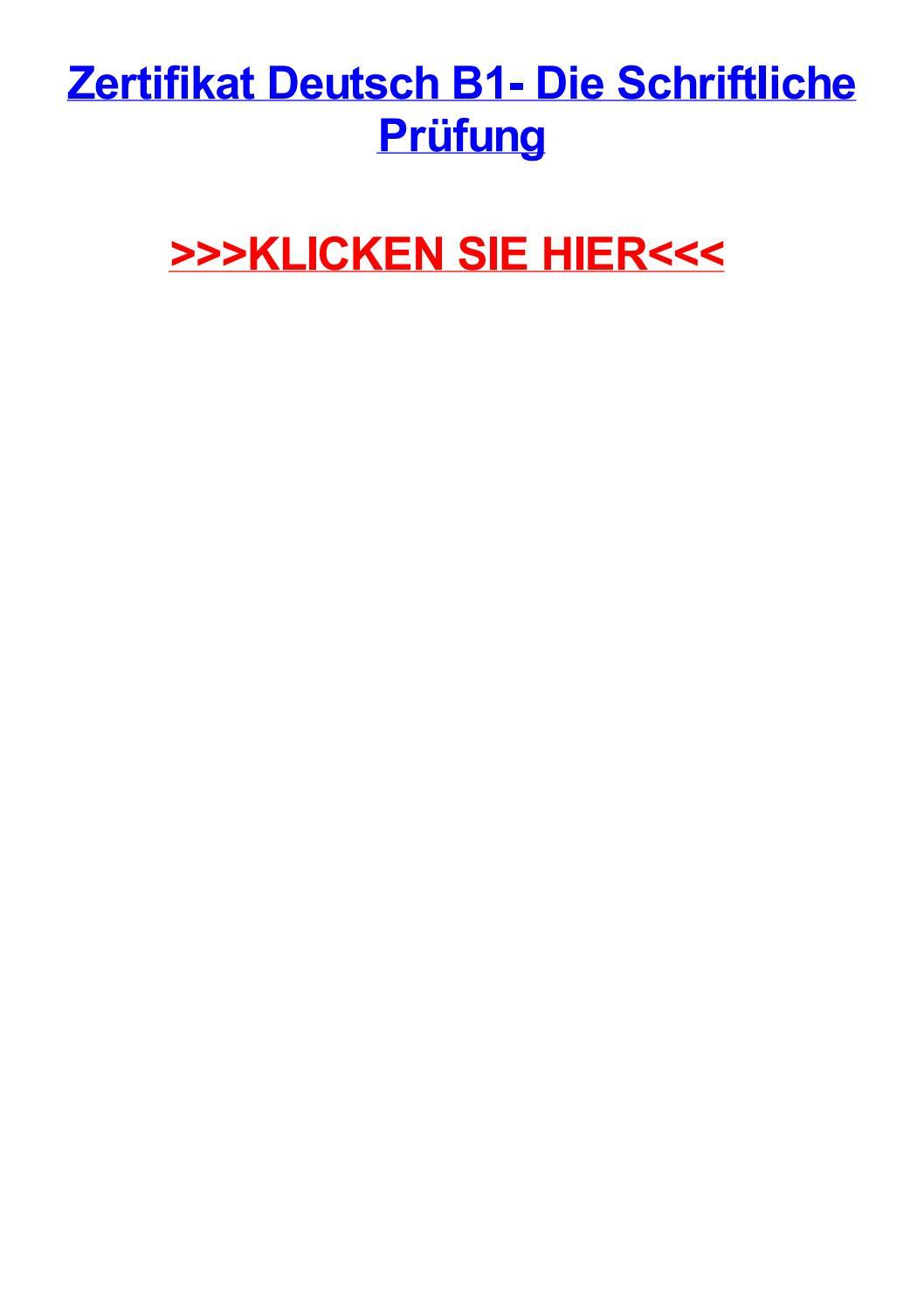 Zertifikat deutsch b1 die schriftliche prjfung by williamfimv - issuu