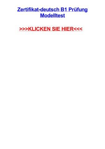 Zertifikat Deutsch B1 Prjfung Modelltest By Monicanlcn Issuu