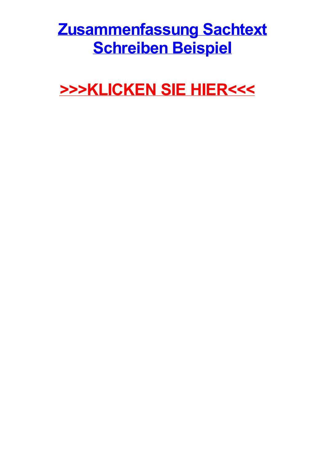 Deutsch Arbeitsmaterialien Inhaltsangabe 4teachers De