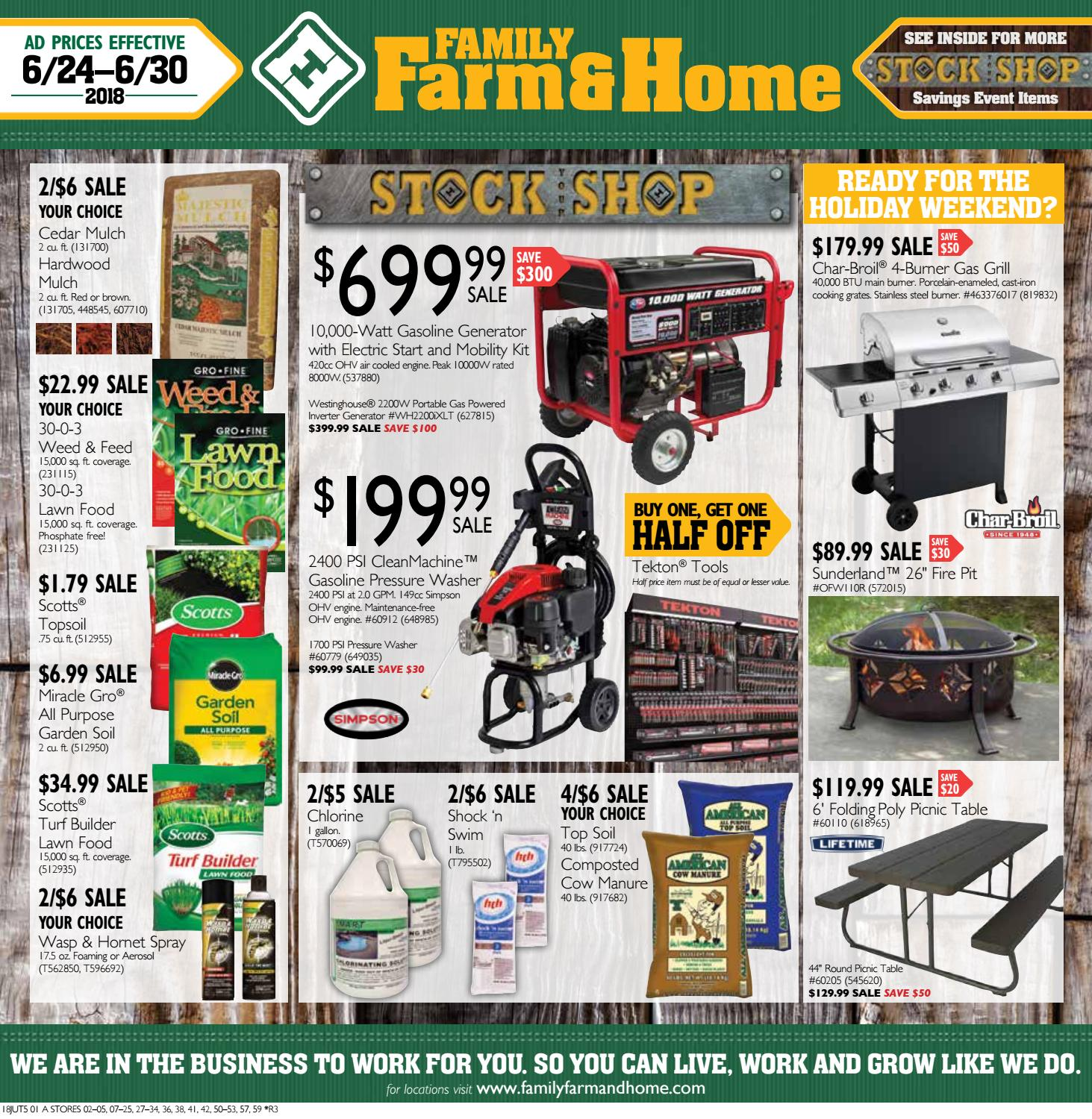 Family Farm & Home 18JUT5 Ad (Effective June 24-30, 2018) by