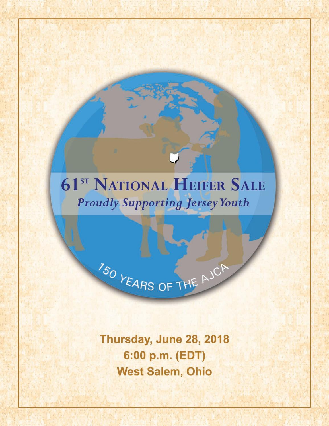 National Heifer Sale, 2018 by AJCA/NAJ/JMS - issuu