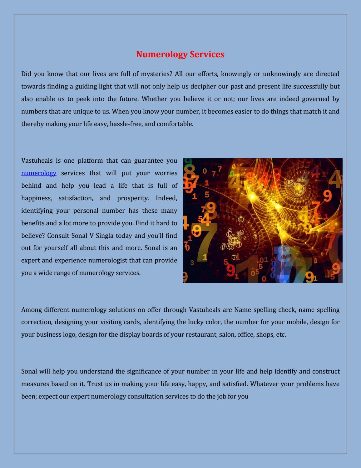 Numerology Services in Rohini, Delhi - Vastuheals by Rohit Seo - issuu