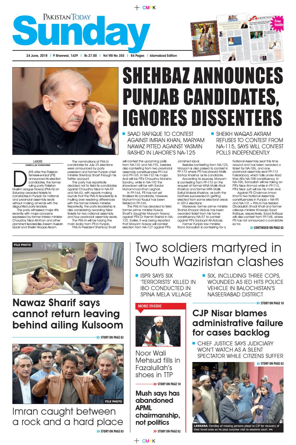 E paper pdf 24 june (isb) by Pakistan Today - issuu