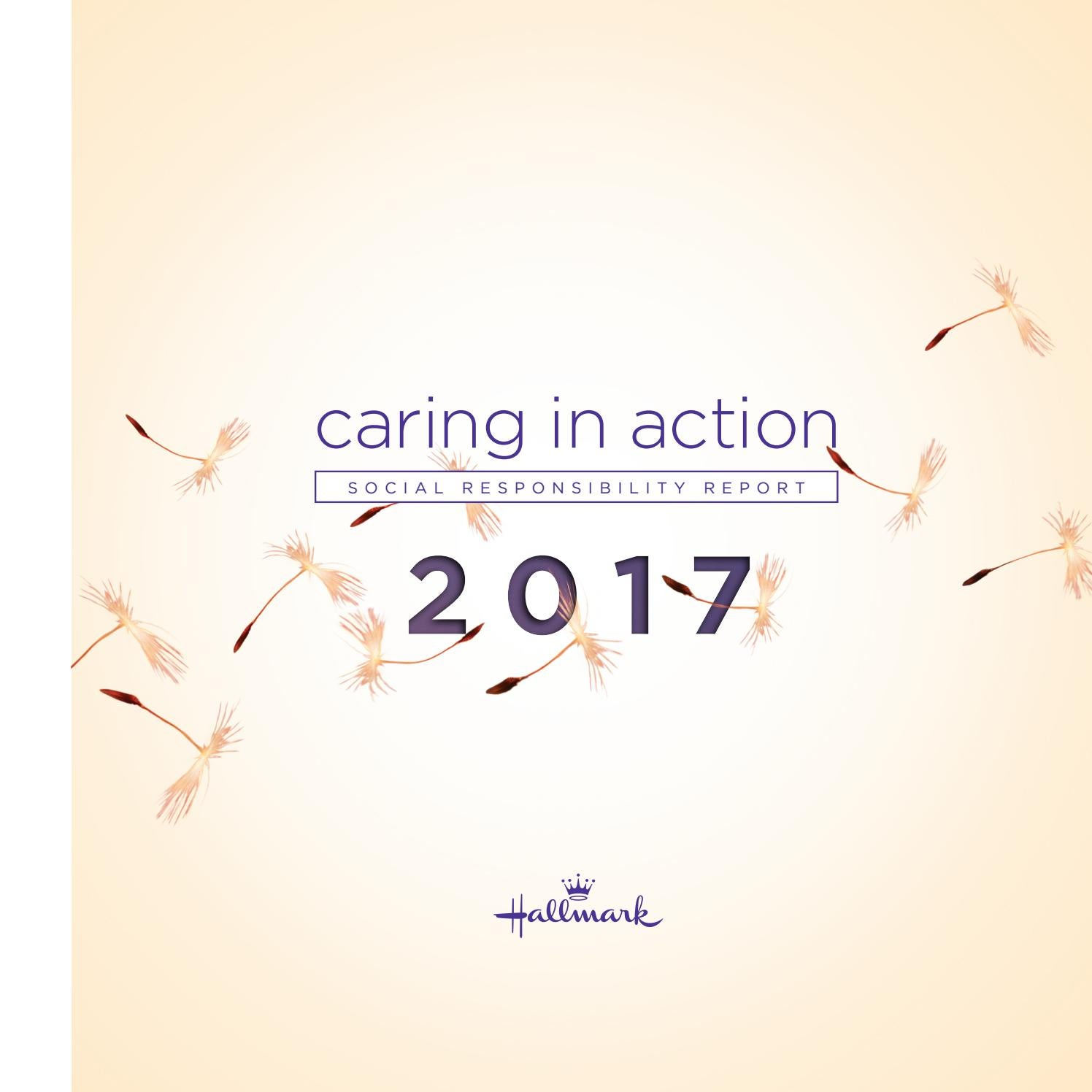 2017 Hallmark Social Responsibility Report By Hallmark Cards Issuu
