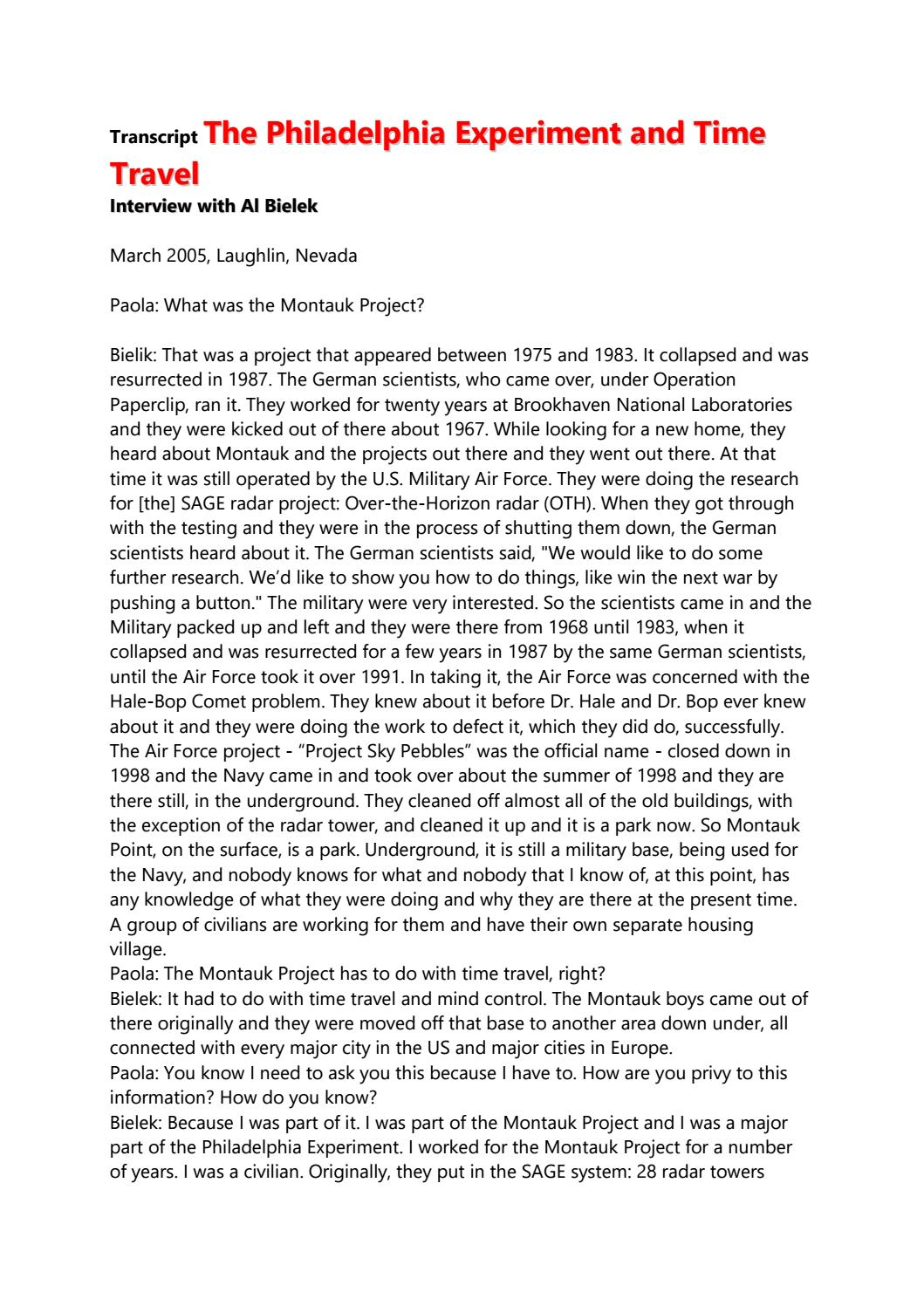 Transcript The Philadelphia Experiment And Time Travel By Frank Van Den Kommer Issuu Alxandro according to al bielek, the wingmakers are the super nerds of the 28th century. transcript the philadelphia experiment