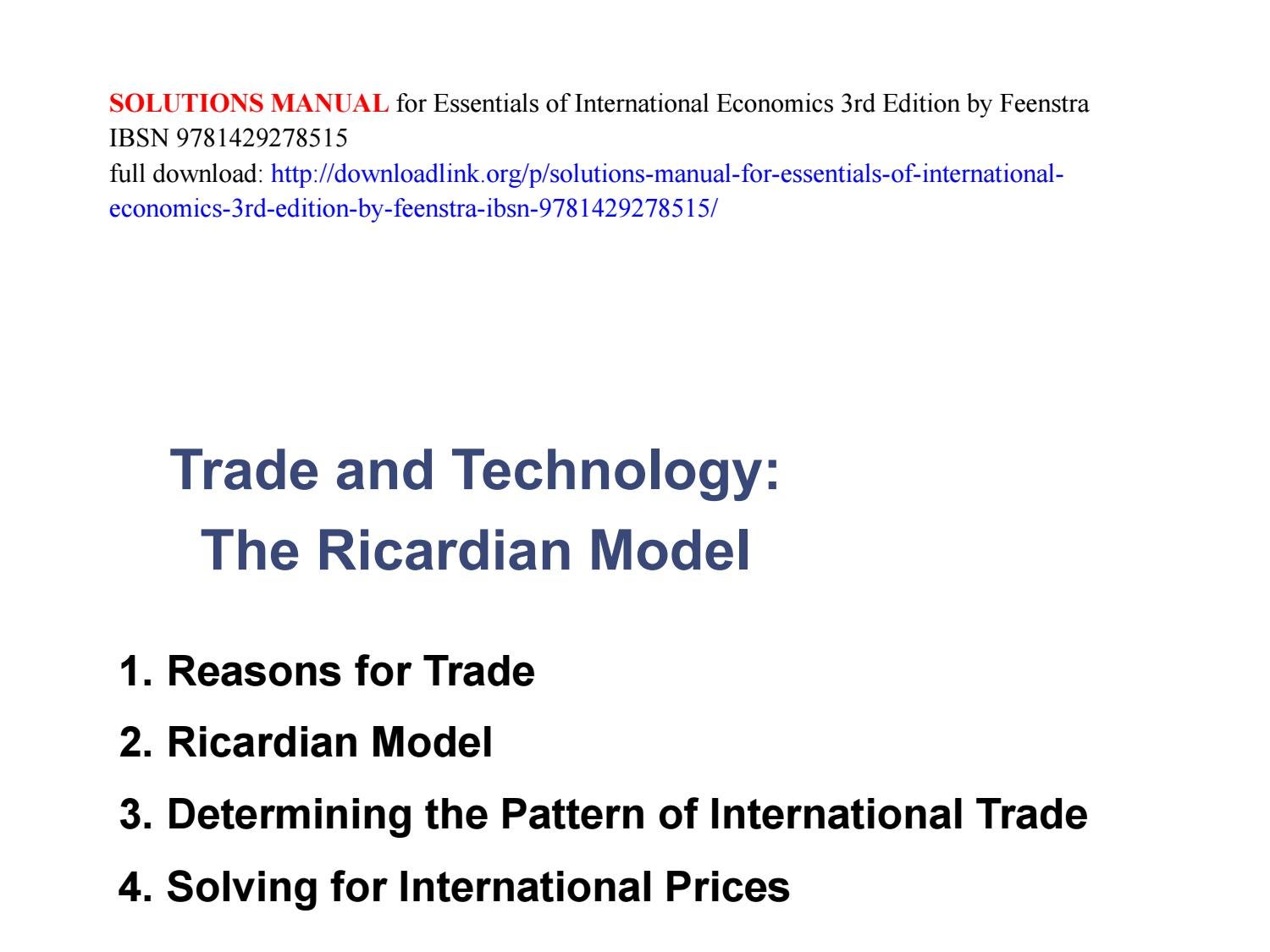 International economics feenstra solutions manual array solutions manual for essentials of international economics 3rd rh issuu com fandeluxe Image collections