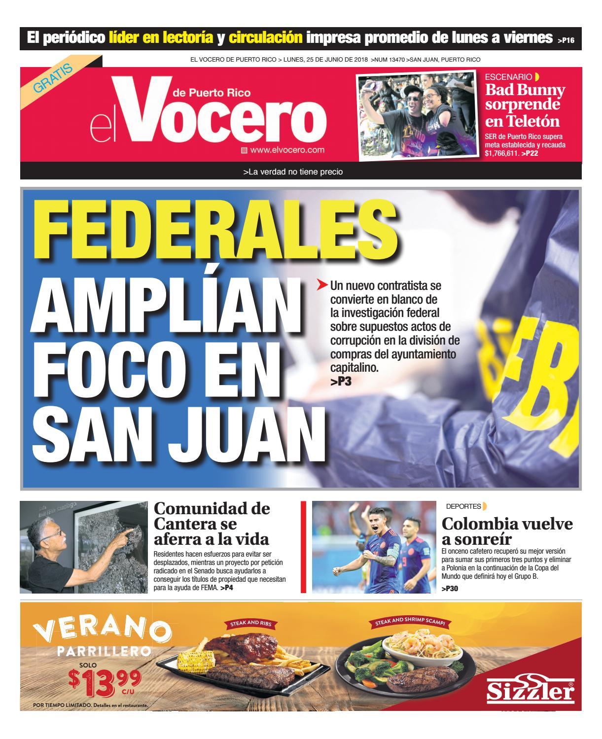5036436def Edición del 25 junio de 2018 by El Vocero de Puerto Rico - issuu