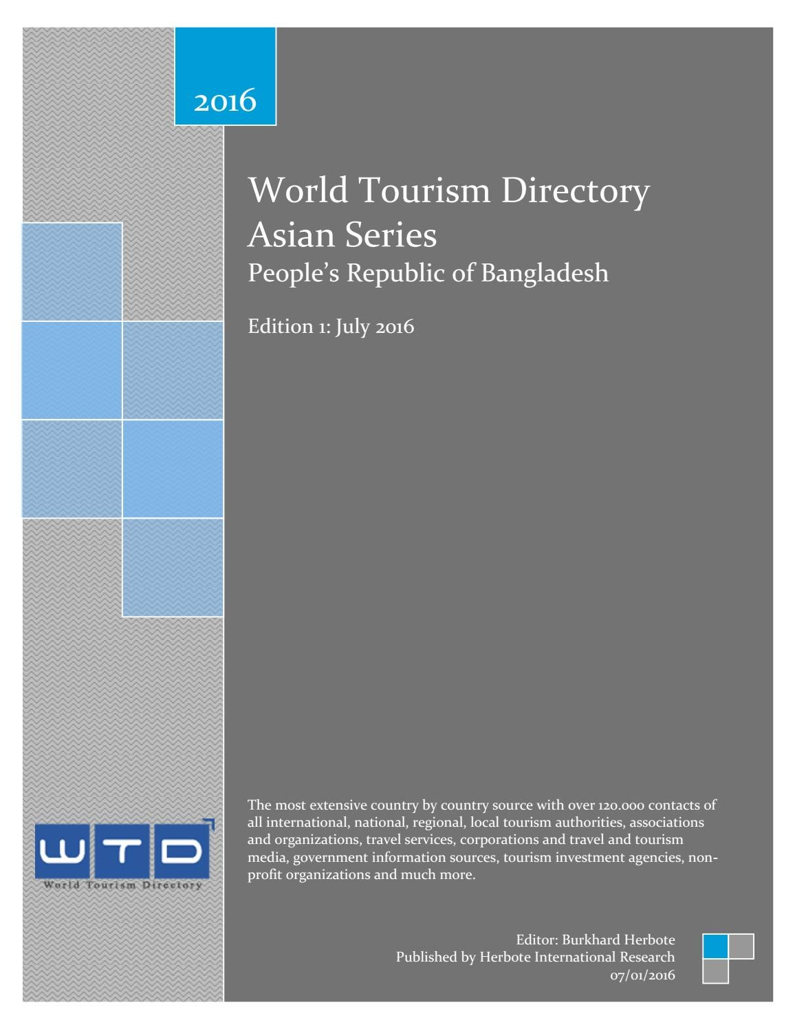 WTD Bangladesh Tourism Directory by World Tourism Directory