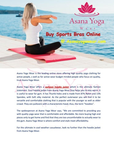 71cd6113d09cf Buy workout clothes by Asana Yoga Wear - issuu