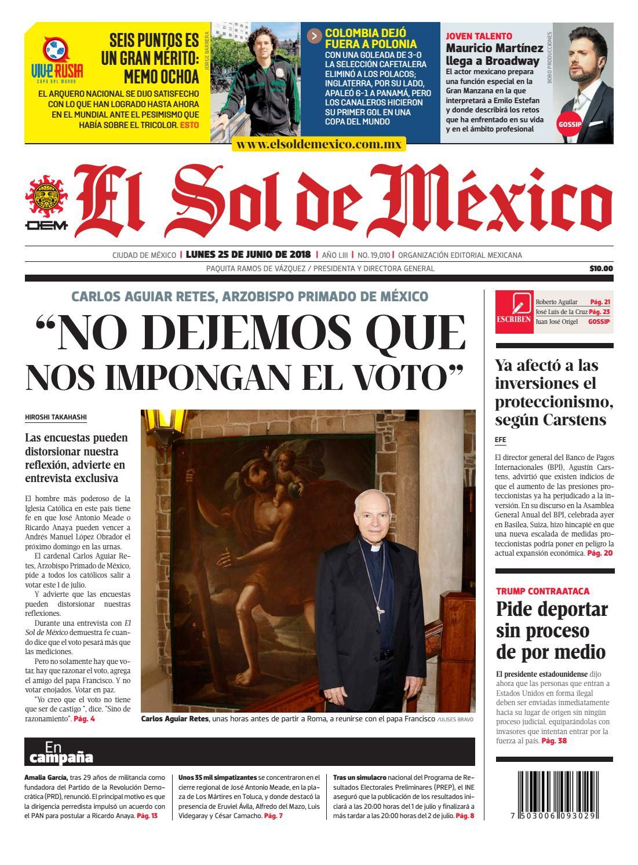 El Sol de México 25 de junio del 2018 by El Sol de México - issuu 59c79ee75f9