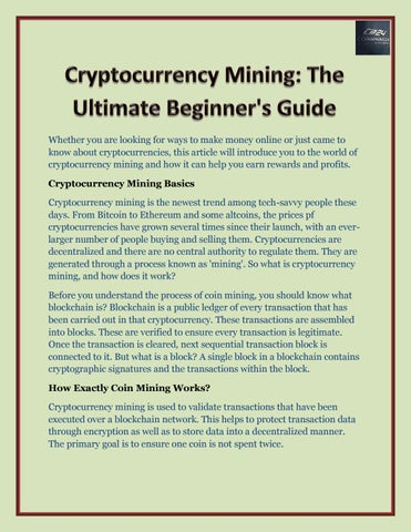 cryptocurrency mining articles