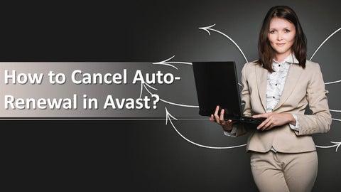 avast cancel auto renew