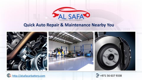 Alsafacarbattery Car Repairing Services In Dubai Auto Repair
