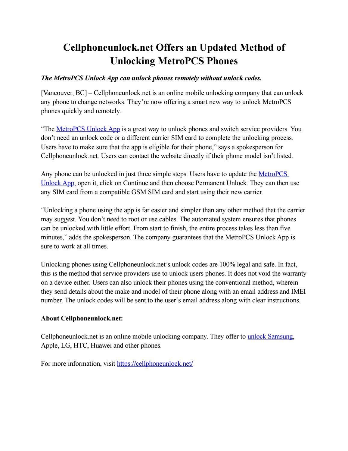 Cellphoneunlock net Offers an Updated Method of Unlocking