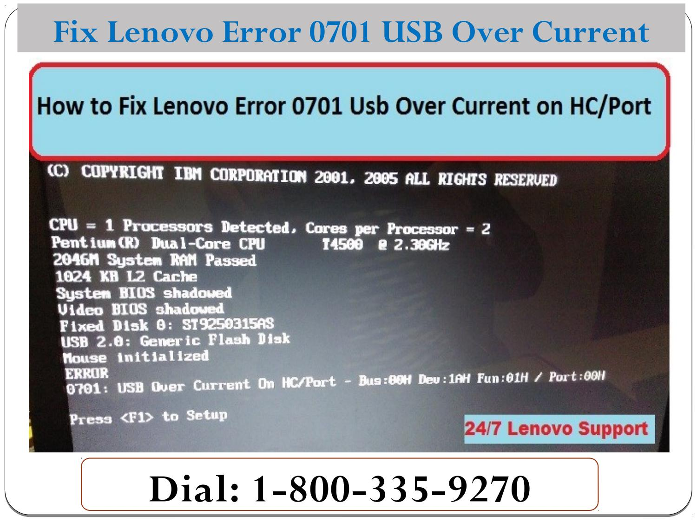 Solved: Error 0701: USB Over Current On HC/Port