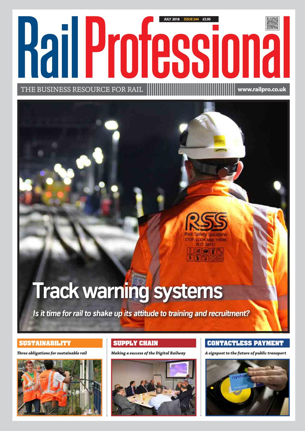 Rail Professional July 2018 By Magazine Issuu Geo Metro Wiring Harness Connector Meanings