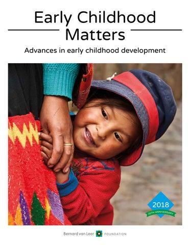The Urgency In Fighting Childhood >> Early Childhood Matters 2018 By Bernard Van Leer Foundation