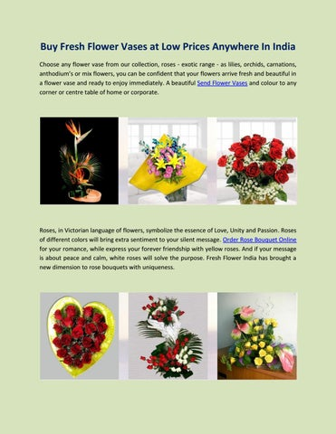 Buy Fresh Flower Vases At Low Prices Anywhere In India By Fresh