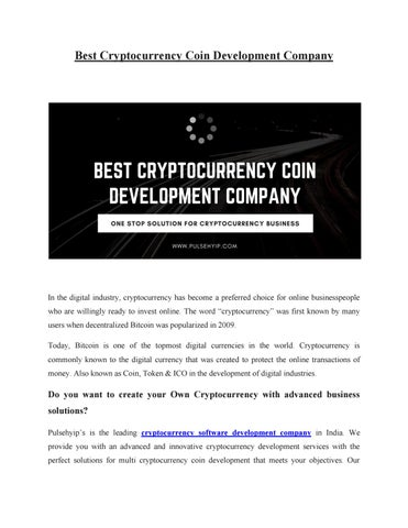 Best companies for cryptocurrency