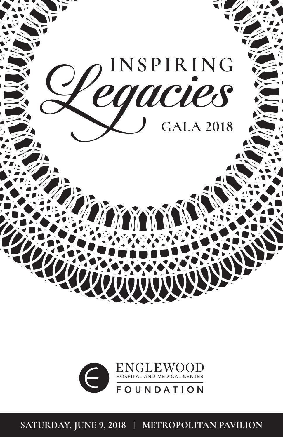 2018 Gala Journal – Inspiring Legacies by Englewood Health