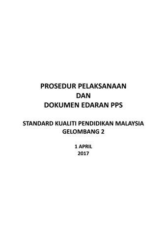 Prosedur Pelaksanaan Dokumen Edaran Pps Skpmg2 1 April 2017 By