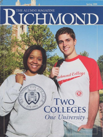 6cae319a721395 University of Richmond Magazine Spring 2008 by UR Scholarship ...