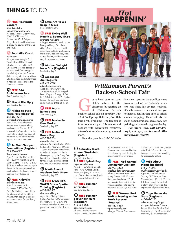 Nashville Parent magazine July 2018 by Day Communications