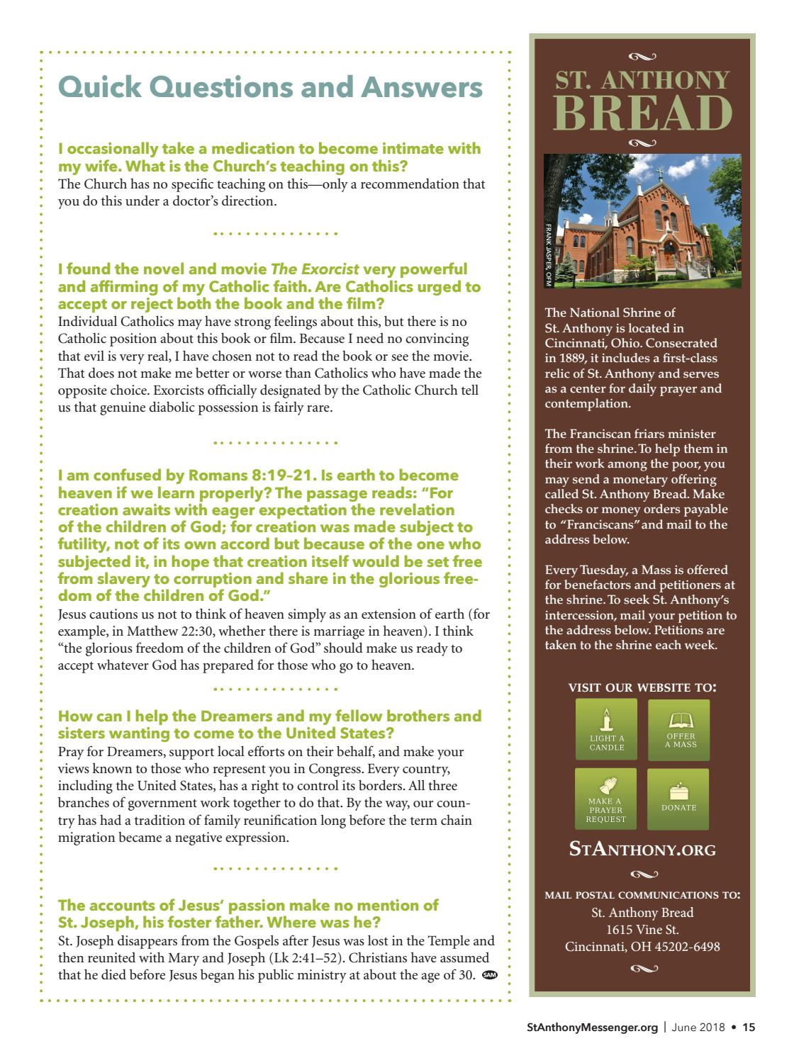 St  Anthony Messenger June 2018 by Franciscan Media - issuu