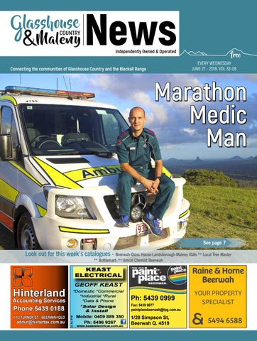 Edition 27 June 2018 by Glasshouse Country   Maleny News - issuu 5ef74d3994ca