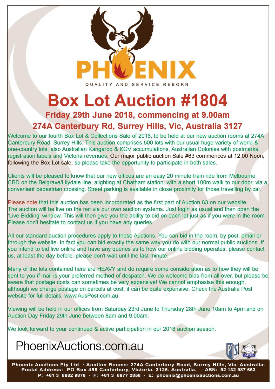 Boxlot Auction 1804 by Phoenix Auctions Pty Ltd - issuu